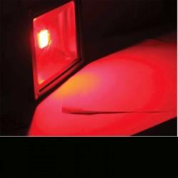 image: Projecteur LED 20W Couleur ROUGE étanche & alu