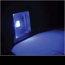 image: Projecteur LED 20W Couleur BLEU étanche & alu