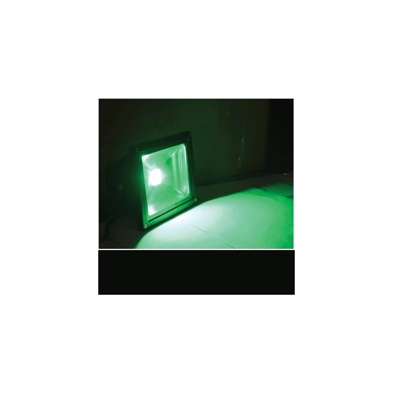 image: Projecteur LED 20W Couleur VERT étanche & alu