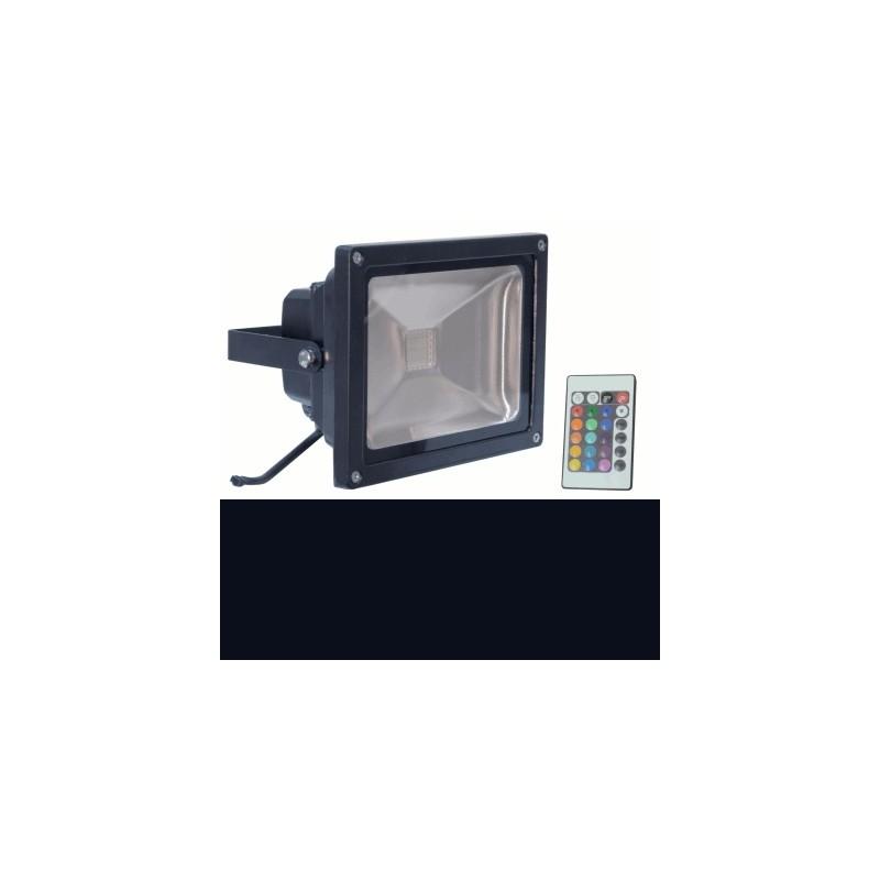 image: Projecteur  LED 20W d'exterieur Couleur RGB & télécommande