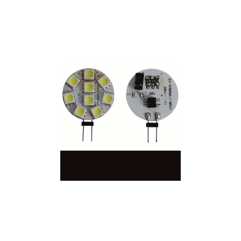 image: AMPOULE A ECONOMIE D`ENERGIE G4 À LED 9 X LED 5050 - 1.8W/12 V