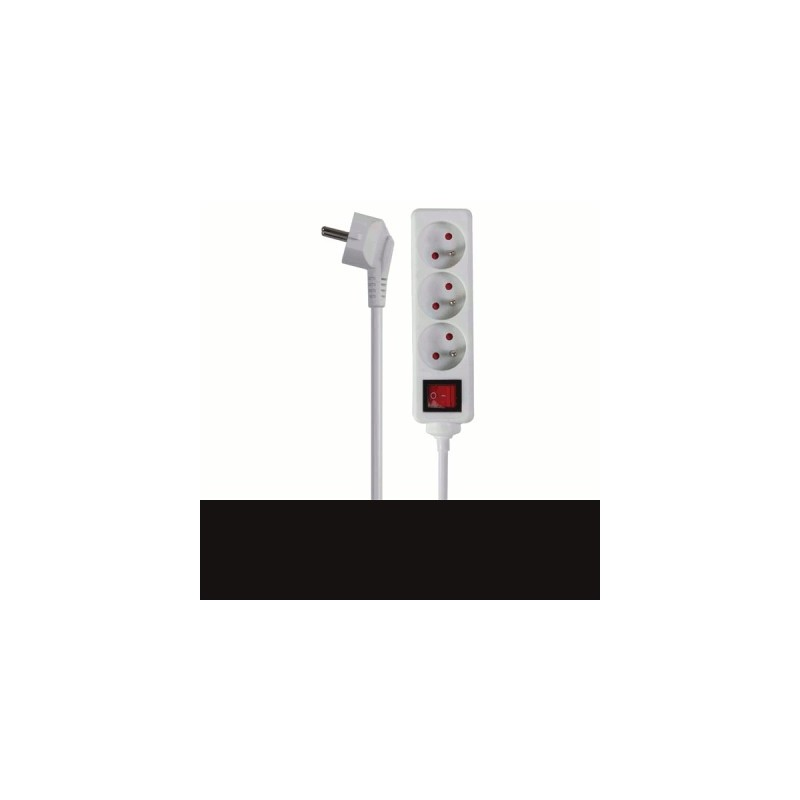 image: BLOC MULTIPRISES, 3 PRISES avec interrupteur