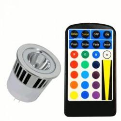 image: AMPOULE couleur LED MR16 RVB 5W TEL