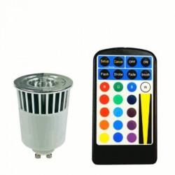 image: AMPOULE couleur LED GU10 RVB 5W TEL