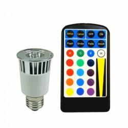 image: AMPOULE couleur LED E27 RVB 5W TEL