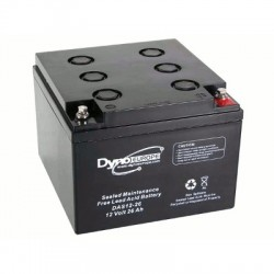 image: Batterie ACIDE-PLOMB 12V-26Ah 165x174.5x125mm