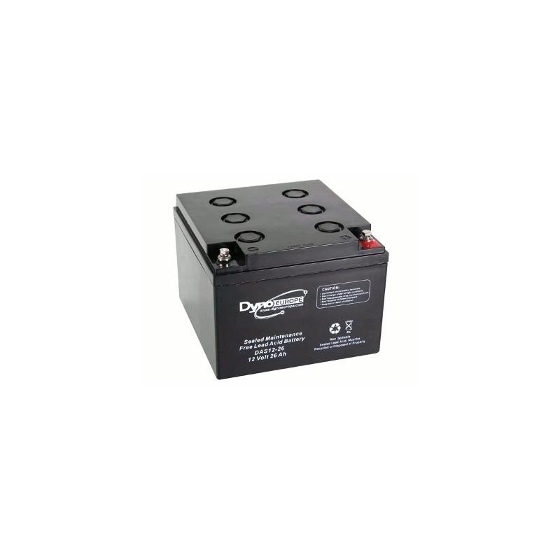image: Batterie ACIDE-PLOMB 12V-26Ah 165x174.5x125mm