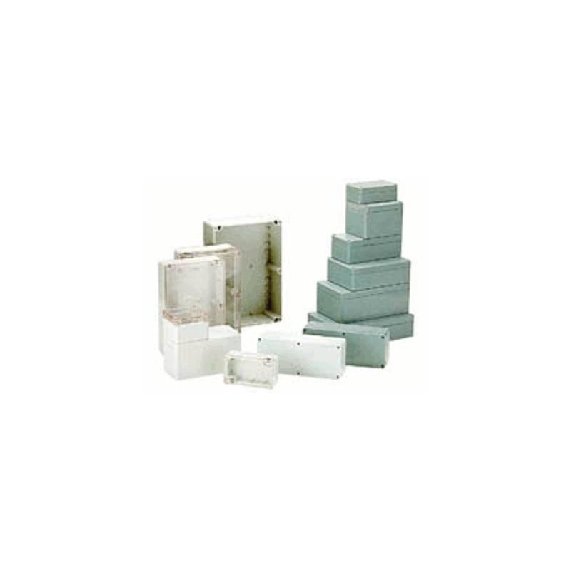 image: COFFRET ETANCHE EN ABS - GRIS FONCE 64 x 58 x 35mm