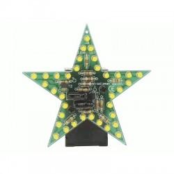 image: ÉTOILE LED CLIGNOTANTE JAUNE