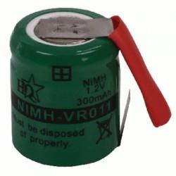 image: ACCU de remplacement NiMh 1.2V diametre 14 mm x 17 mm