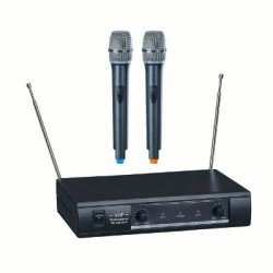 image: Micro Sans Fil VHF 2 canaux , 2 micros main