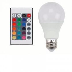 image: AMPOULE couleur LED FORME DE POIRE E27 RVB 7.5W TEL