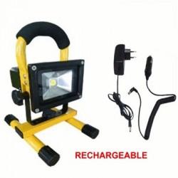 image: Projecteur SPOT / Eclairage LED 230 Volt / 20 Watts  RECHARGEABL