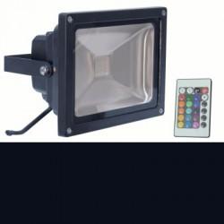 image: Projecteur  LED 10W d'exterieur Couleur RGB & télécommande