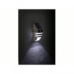 image: LAMPE SOLAIRE MURALE EN INOX POUR JARDIN+ PIR DE 0,5 W avec veil