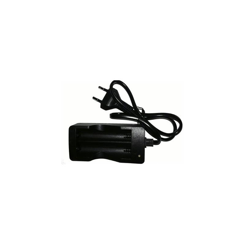 image: CHARGEUR double pour batterie Lithium 18650