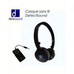image: Casque sans fil audio UNIVERSEL pliable DetecSound
