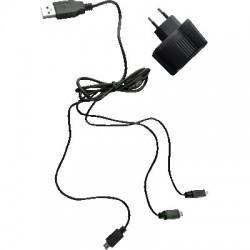image: Chargeur secteur Deus avec câble usb 3s