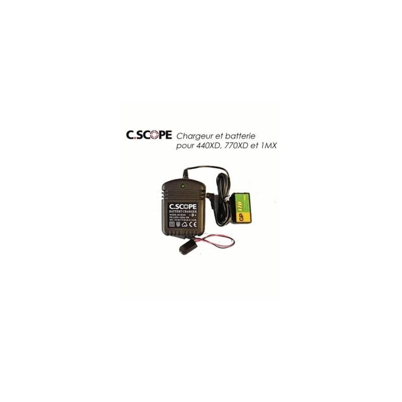 image: Batterie et chargeur C.SCOPE pour 440XD, 770XD et 1MXEUS