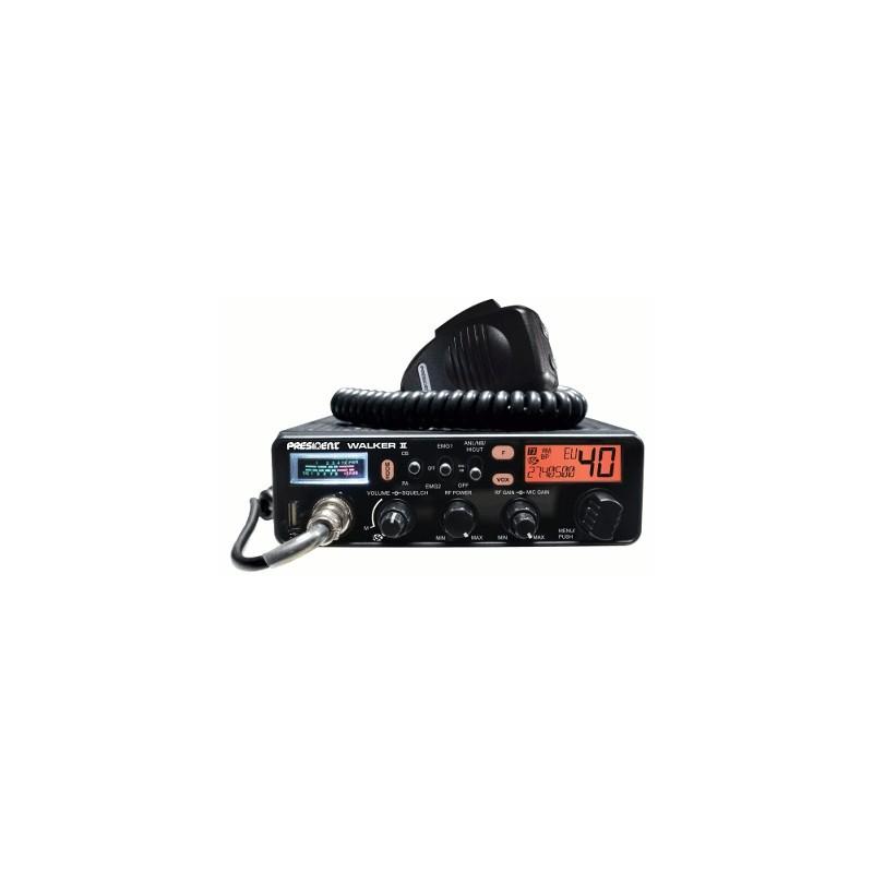 image: -CB Président WALKER II Asc AM/FM + prise USB