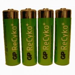 image: Pile Rechargeable X4 AAA(LR3)- RECYKO+