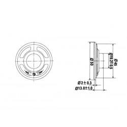 Haut-Parleur Ø 50mm Miniature