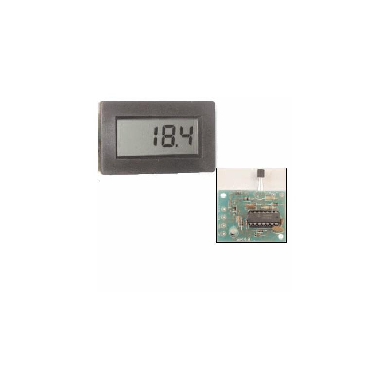 image: kit thermomètre lcd de : - 40 à 110 degrés